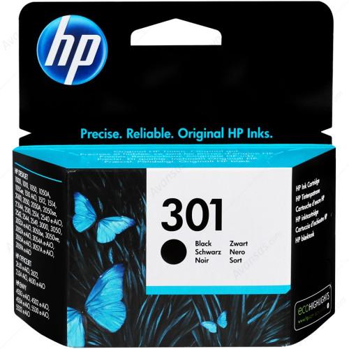 HP 301 Siyah Orijinal Mürekkep Kartuşu CH561EE