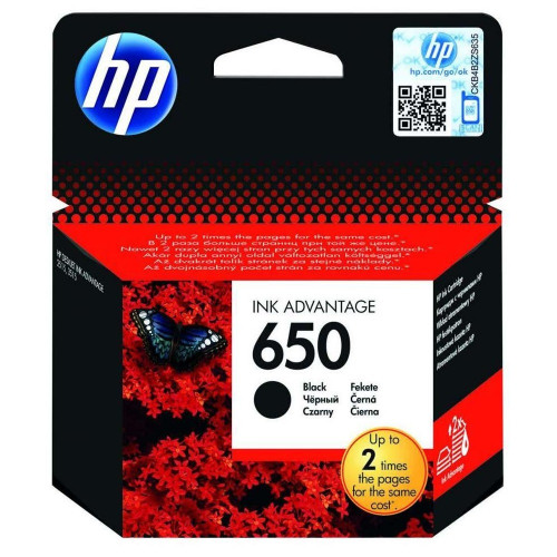 HP 650 Siyah Orijinal Ink Advantage Mürekkep Kartuşu CZ101AE