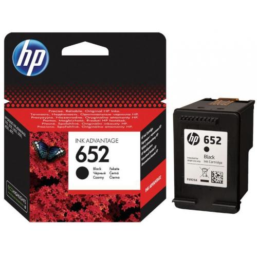 HP 652 Siyah Mürekkep Kartuşu F6V25AE