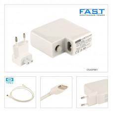 Fast Apple Usb Type C Şarj Adaptörü 20.3V 3A, 14.5V 2A, 9V 3A , 5.2V 2.4A 61W CSADP081