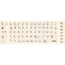 Almanca Türkçe Şeffaf Klavye Etiketi, Almanca Türkçe Şeffaf Klavye Sticker