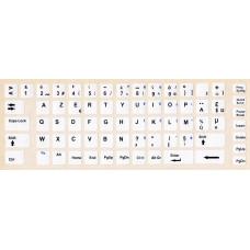 Fransızca Türkçe AZERTY Beyaz Klavye Sticker, Fransızca Türkçe Beyaz Klavye Etiketi, Fransızca Klavye Sticker